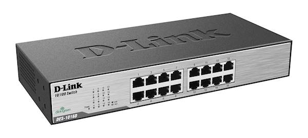 Switch DLINK 16-Port Fast Ethernet Unmnged Desktop