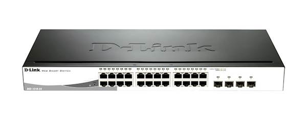 Switch DLINK 24-port Smart mngd 4x SFP