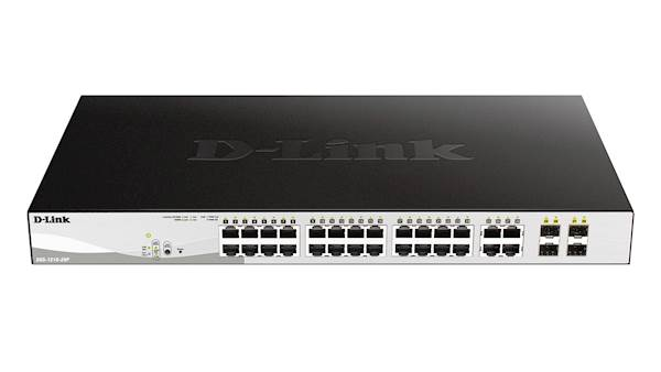 Switch DLINK 28-Port Gb PoE Smart Mnged + SFP