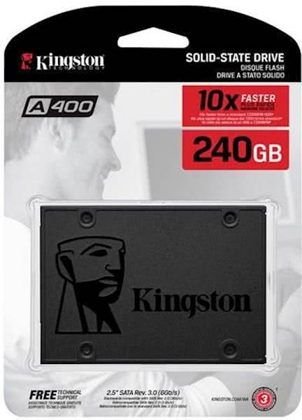 "SSD Kingston 240GB A400, 2,5"", SATA3.0, 500/350 MB/s"