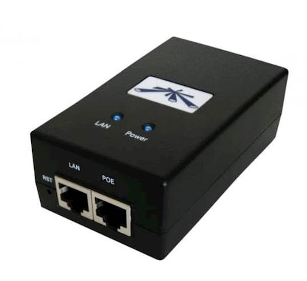 UBIQUITI POE Injector, 24VDC, 12W, Gigabit Port