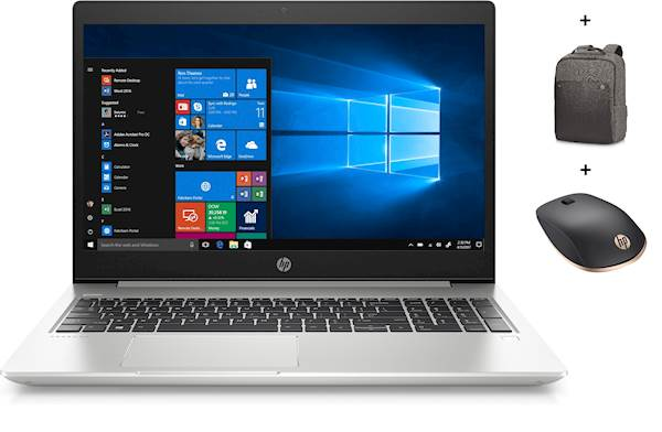 HP 450 G6 i7/16G/256G/1TB/FHD/V2/DOS & HP Executive 15.6 Brown Backpack & HP Z5000 Silver BT mouse