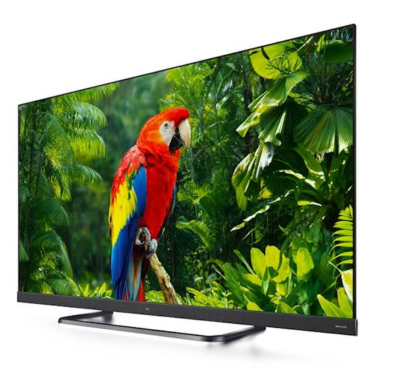 TV TCL LED 55EC780 Android, UHD, Titanium metal front